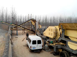 400T/H Gypsum Mobile Crushing Plant in Malaysia