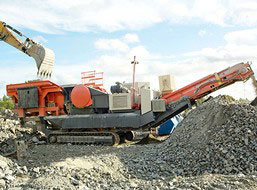 30-50T/H Gypsum Mobile Crushing line in South Africa
