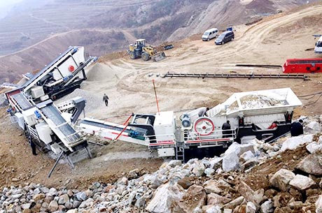 50-80T/H Basalt Mobile Crushing Line in Kenya