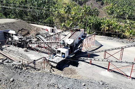 80T/H-100T/H Calcium Mobile Crushing Plant in Tanzania